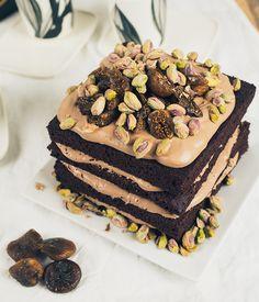 Kahvia & Kasvisruokaa: Alaston Suklaakakku Ja Tummaa Kahvia (Gf, V)