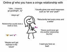 Calling me tf out 😔 ~alex Type Of Girlfriend, Boyfriend Girlfriend, Gf Memes, Funny Memes, Stay Up, One Word, Fact Quotes, Mbti, Cringe