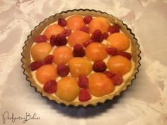 Unbaked Apricot and Raspberry Tart