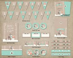 Winter Woodland Birthday Party Mega Pack by ThePrettyPaperStudio