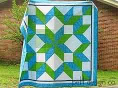 Carpenter's Star Quilt by Petit Design Co., via Flickr