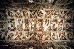 Michelangelo Buonarroti.    Sistine Chapel (Ceiling)    .1508-12