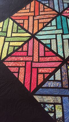 """This is a variation of Judy Niemeyer's quilt called """"Fractured Paint Box"""". This is quilted by Janet Reichgut using the Fractured Paint patterns by Wasatch Quilting. These patterns are available individually or as a set. Paint Patterns, Paper Piecing Patterns, Painted Boxes, Fabulous Fabrics, Quilting Designs, Quilt Blocks, Stained Glass, Mosaic, Display"""