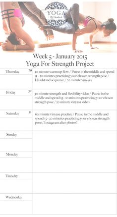 yoga for strength- 1 month challenge, week 5