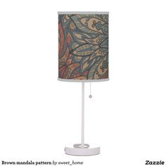 Brown mandala pattern desk lamp  #Home #decor #Room #Interior #decorating #Idea #Styles #Traditional #Boho #Indian #Vintage #floral #motif