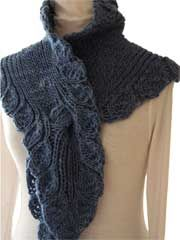 Ruffle Scarf Knit Pattern Download from Anniescatalog.com -- This best-selling knitting pattern provides a stylish and sophisticated look!