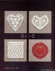 Crochet and arts: crochet Hearts motifs