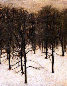 Hammershoi, Vilhelm (1864-1916) - 1895-96 Landscape in the Snow (Hirschsprung Collection, Copenhagen, Denmark) (by RasMarley)