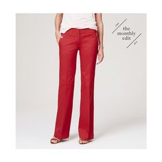 LOFT Cotton Sailor Pants In Marisa Fit ($70) ❤ liked on Polyvore