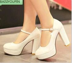 Sweet small yards 32 33 japanned leather ultra high heels wedding shoes bridal shoes thick heel plus size 40 - 43 single work Wedding Boots, Wedding Shoes Heels, Bride Shoes, Platform Wedding Shoes, Fancy Shoes, Pretty Shoes, Beautiful Shoes, Heeled Boots, Shoe Boots