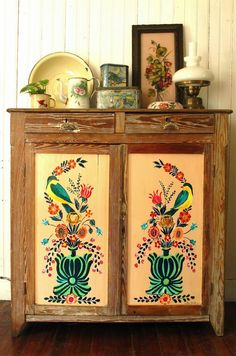 I have something for folky, hand painted furniture.❤