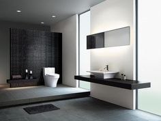 3D black wall  Bathroom Remodeling : HGTV Remodels