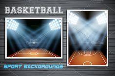 Night Basketball stadium in light by Vitamin on @creativemarket