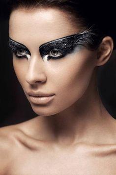 """make-up-is-an-art: """" Łukasz Znojek - photography/beauty by Lukasz Znojek on Behance """" The Black Swan, Makeup Fx, Bird Makeup, Art Halloween, Halloween Makeup, Black Swan Makeup, Black Swan Costume, Fantasy Make Up, Beauty Make-up"""