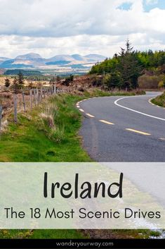 Ireland is a fabulous country for road trips. But with so many choices which scenic drives in Ireland are the best? I've put together a wonderful list of the best drives in Ireland. Click through to find out more. Dublin Travel, Ireland Travel, Ireland Vacation, John Muir, Road Trip Hacks, Road Trips, Ireland Hotels, Ireland Destinations, Travel Destinations