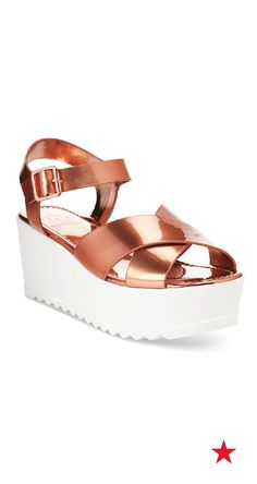 4923b913ebe90 Material Girl Wave Flatform Wedge Sandals