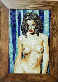 Islak nü. Mosaic. Glassmosaic.