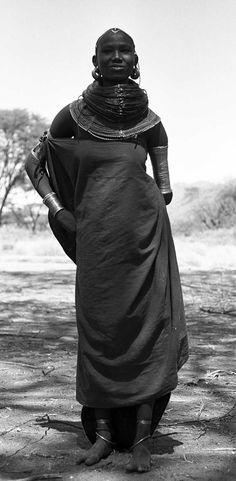 Africa | Young Samburu women. South Horr, Kenya. 1961 | ©Wilfred Gilbert Thesiger / Pitt River Museum