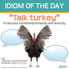 """""""Idioms are fun, creative, and advanced ways to express meaning. == One of the things that really gives a language its character is its idioms. Native speakers love idioms, because they consider them to be an important part of their cultural heritage. English Idioms, English Phrases, Learn English Words, English Lessons, English Tips, English Learning Spoken, English Language Learning, Interesting English Words, Idioms And Phrases"""