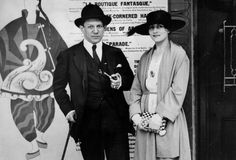 Personalities. Art. pic:1919. Spanish artist Pablo Picasso pictured with his wife Olga.