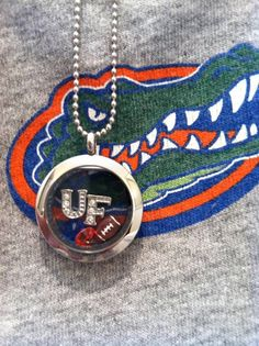 University of Florida Gators inspired lockets (football, gators)   http://www.facebook.com/sparklingurstory
