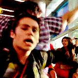 Dylan O'Brien gettin his groove on :)))) Set of The Internship