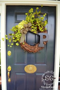 Summer Initial DIY Wreath: Hang this summery wreath on your front door, and we guarantee it'll put a big smile on your face every time you walk into the house.