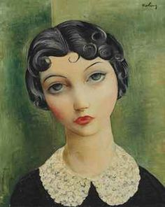 MOISE KISLING (1891-1953)  PORTRAIT WITH A COLLAR, 1930