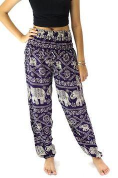 Éléphant pantalons /Hippies pantalon /Boho pantalon une taille convient sombre puple