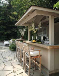 Outdoor bar and kitchen. This would be great off of the indoor kitchen with an opened window to pass out food and drinks or just for an indoor outdoor combination- LJKoike