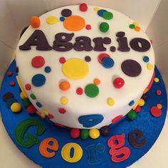 Agar.io cake Boy Birthday, Birthday Cake, Birthday Parties, Birthday Stuff, Birthday Ideas, Party Themes, Theme Ideas, Party Ideas, Baseball Party