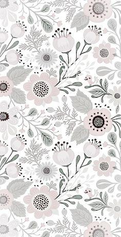 Flower Background Wallpaper, Flower Backgrounds, Background Patterns, Wallpaper Backgrounds, Iphone Wallpaper, Illustration Noel, Pattern Illustration, Botanical Illustration, Trendy Wallpaper