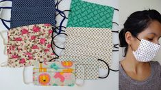 Easy Face Masks, Project 3, Diy Projects To Try, Drawstring Backpack, Apron, Kids Rugs, Youtube, Sewing, Fabric