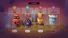 Totemori is a free-to-play local-multiplayer brawler where you build towers while trying to topple everyone else's! Game Card Design, Board Game Design, Game Gui, Game Icon, I Love Games, Games To Play, Games Box, Card Games, Game Interface