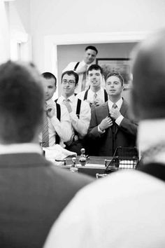 18 Must Have Getting Ready Wedding Photo Ideas for Groom and Groomsmen groom and groomsmen getting ready photography Groomsmen Wedding Photos, Groomsmen Poses, Groom Poses, Groom And Groomsmen, Wedding Tuxedos, Bride Groom, Wedding Picture Poses, Wedding Poses, Wedding Shoot