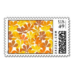 Chestnut tree autumn leaves postage stamps  #postage #stamp #stamps #zazzle #leaves #floral #leaf #nature