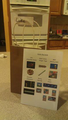 Terraria Birthday Party Goody Bag Contents idea