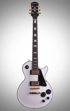 Epiphone Les Paul Custom PRO Electric Guitar, Alpine White, with Gold Hardware