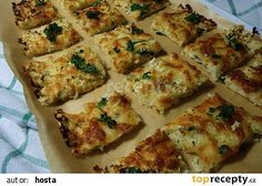Květákové řezy recept - TopRecepty.cz Cooking Recipes, Healthy Recipes, Lchf, Quinoa, Zucchini, Food And Drink, Low Carb, Pizza, Vegetables