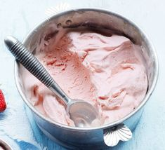 This refreshing summer dessert is milky, subtle and slightly tangy. Use the plumpest, most perfectly-ripe strawberries you can find for the best flavour
