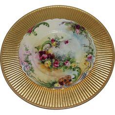 Haviland France Limoges Hand Painted Porcelain Plate