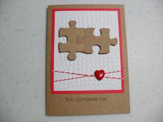 Handmade Anniversary Card  Puzzle Pieces  You by GGgreetings, $3.75