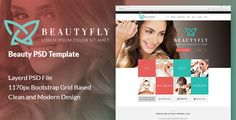 Buy Beautyfly - Beauty PSD Template by on ThemeForest. BeautyFly is a PSD Template designed specifically for the beauty industry. It is suitable for businesses offering ser. Wedding Templates, Psd Templates, Lato Font, Designer Image, Theme Template, Facial Massage, Facial Treatment, Beauty Industry, Website Template
