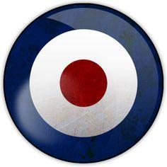 Britpop variation on mod target emblem.