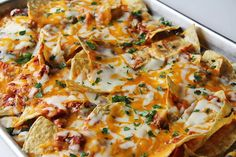 pizza nachos  - These were SO easy and yet SO delicious! My kids inhaled them - I wondered if my husband and I would get any. The garlic sauce is really quick and easy and reminded me of an Alfredo. Definitely a keeper!