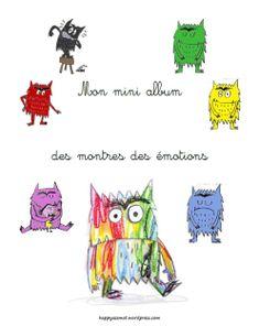 """Mini album des monstres des émotions - """"La couleur des émotions"""""""
