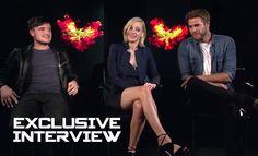 Jennifer Lawrence, Josh Hutcherson & Liam Hemsworth Exclusive INTERVIEW ...