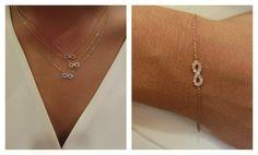 New infinity necklaces & bracelet!