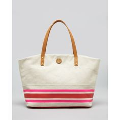 Tory Burch Tote - Theresa East/West ($250) ❤ liked on Polyvore