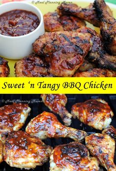 """Sweet 'n Tangy BBQ Chicken l Meal Planning Maven #barbecuerecipes #bestchickenrecipe Whether you have a favorite family grilled chicken recipe or you're forever searching for """"just that right one,"""" I invite you to try mine featuring my special Sweet 'n Tangy BBQ Sauce!"""
